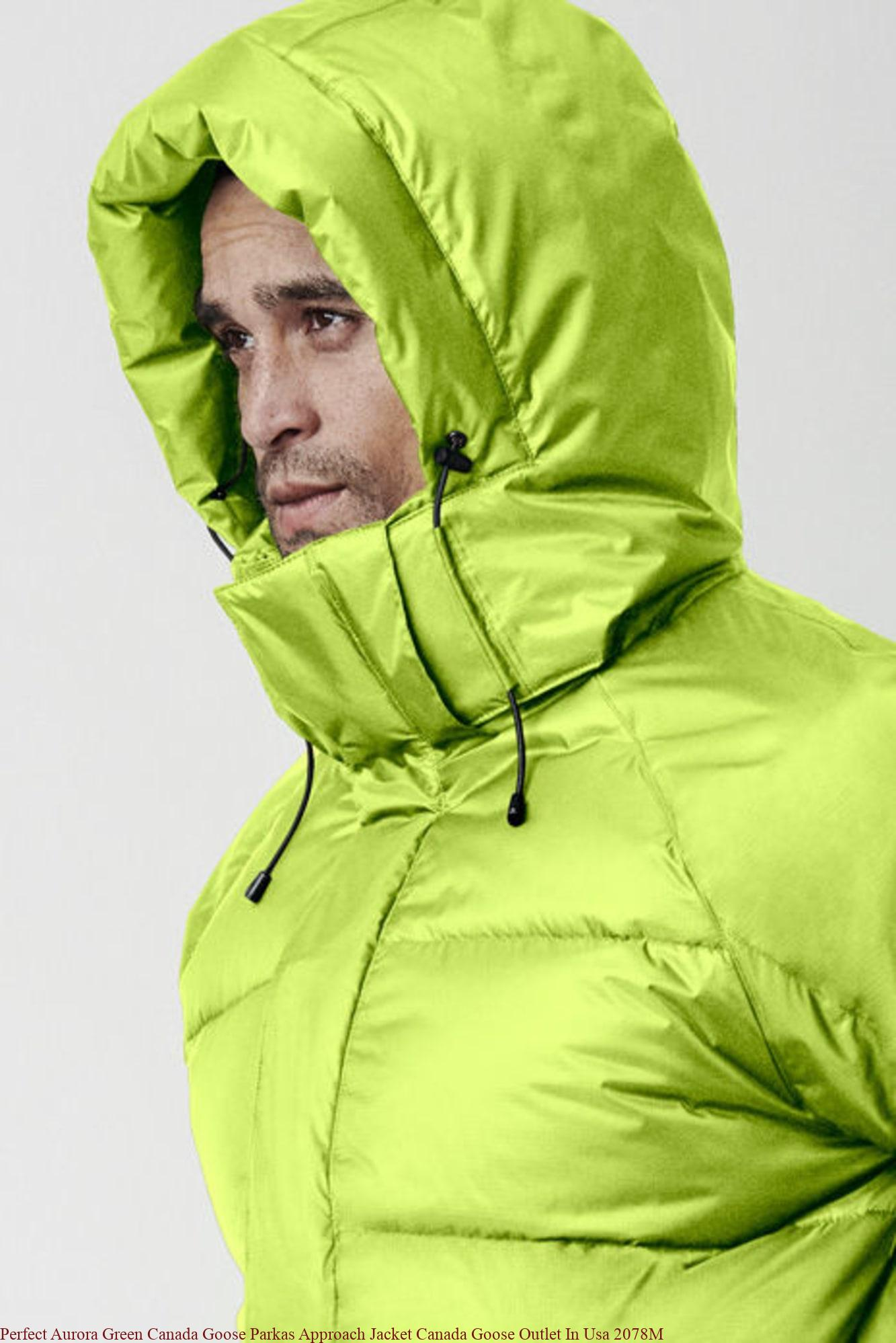 timeless design a85c4 9e3aa Perfect Aurora Green Canada Goose Parkas Approach Jacket Canada Goose  Outlet In Usa 2078M