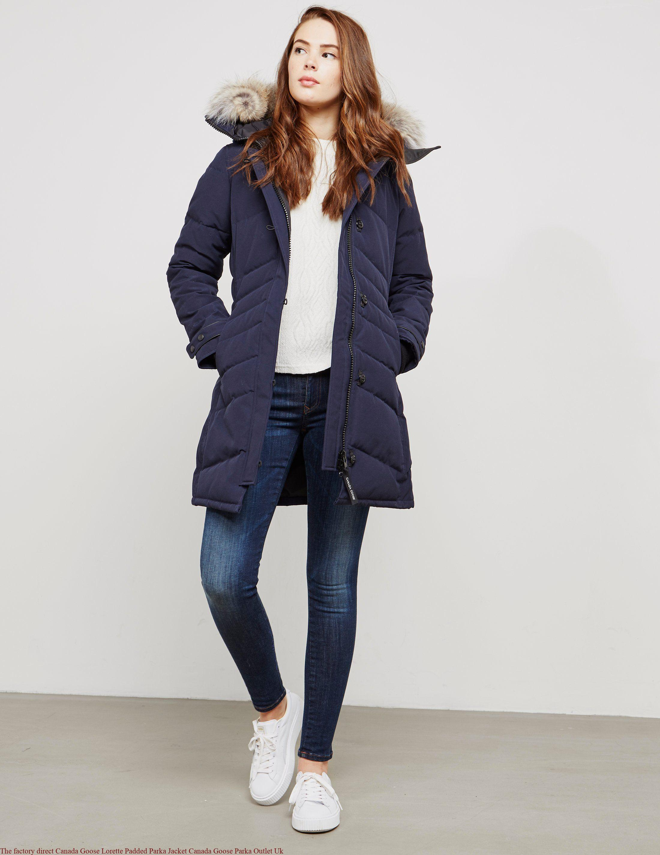 The factory direct Canada Goose Lorette Padded Parka Jacket Canada Goose Parka Outlet Uk